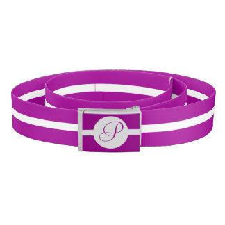 Bright Purple Circle Monogram Belt