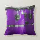 Bright purple conga drums photo throw pillow