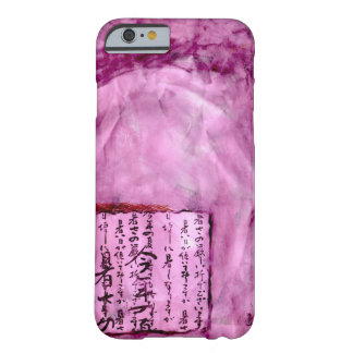 Bright Purple Distressed Asian Script Watercolor Barely There iPhone 6 Case
