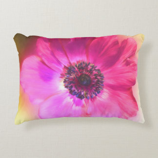 Bright Purple Fuchsia Flower Art Decorative Pillow
