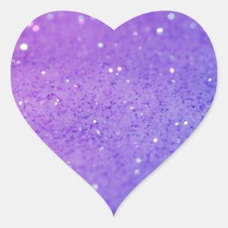 Bright Purple Glitter - Shiny, Sparkles Heart Sticker