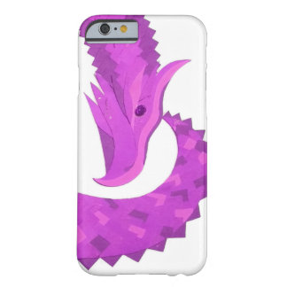 Bright purple heart dragon on white barely there iPhone 6 case