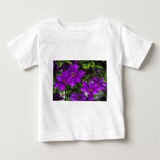 Bright Purple Jackmanii Clematis Vine Baby T-Shirt