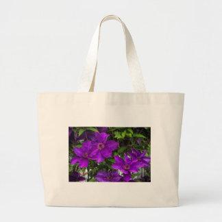 Bright Purple Jackmanii Clematis Vine Large Tote Bag