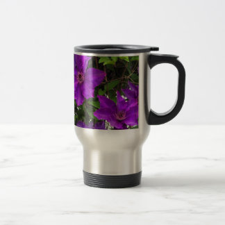 Bright Purple Jackmanii Clematis Vine Travel Mug