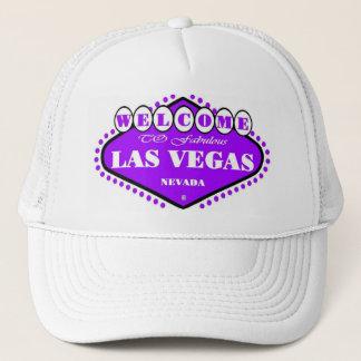 BRIGHT Purple Las Vegas Sign Cap