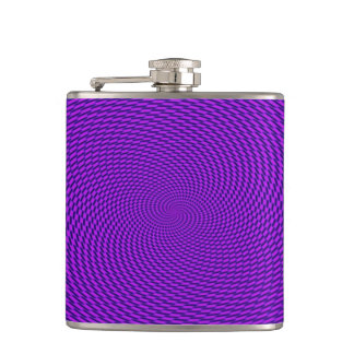 Bright Purple Mod Design Hip Flask