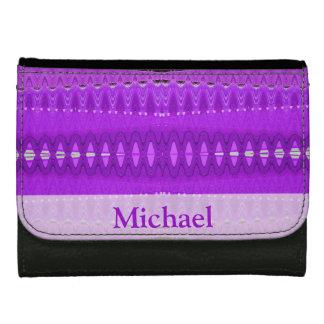 Bright purple modern design leather wallets