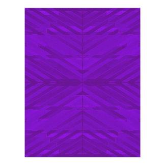 Bright Purple Pattern Custom Flyer