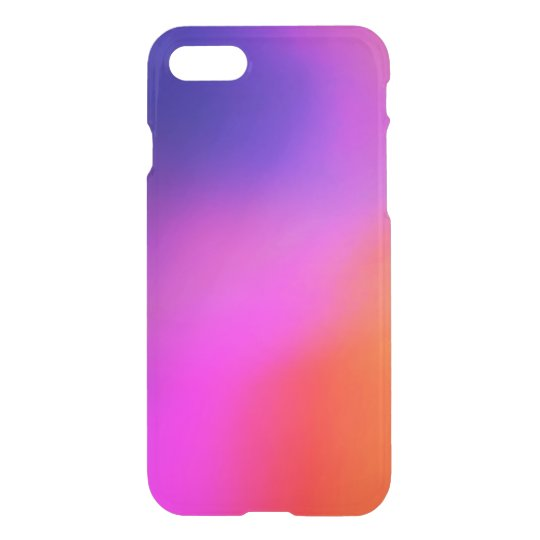 Bright Purple Pink And Orange Abstract Glow iPhone 7 Case