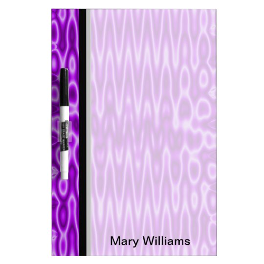 Bright purple wavey background dry erase board