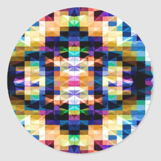 Bright Raibow Diamond - Meditation mandala V6 Classic Round Sticker