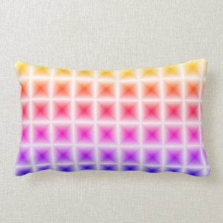 Bright Rainbow 3d block Pillow