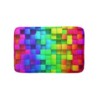 BRIGHT Rainbow Bathroom Mat Happy Colors