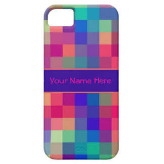 Bright Rainbow Checks Pattern Case For The iPhone 5