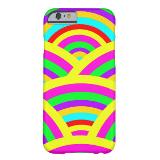 Bright Rainbow Colorful Arches Stripes Barely There iPhone 6 Case