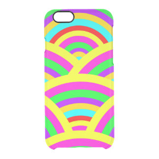 Bright Rainbow Colorful Arches Stripes Clear iPhone 6/6S Case