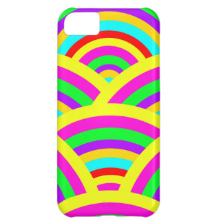 Bright Rainbow Colorful Arches Stripes iPhone 5C Cover