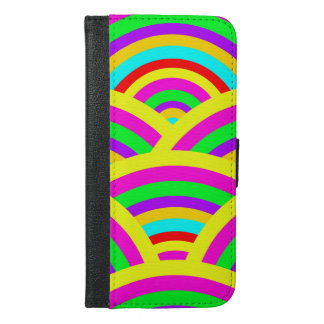 Bright Rainbow Colorful Arches Stripes iPhone 6/6s Plus Wallet Case