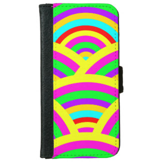 Bright Rainbow Colorful Arches Stripes iPhone 6 Wallet Case