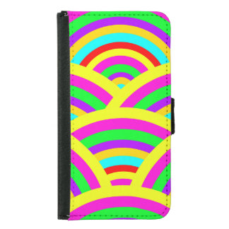 Bright Rainbow Colorful Arches Stripes Samsung Galaxy S5 Wallet Case