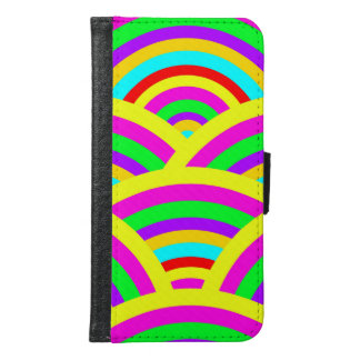 Bright Rainbow Colorful Arches Stripes Samsung Galaxy S6 Wallet Case