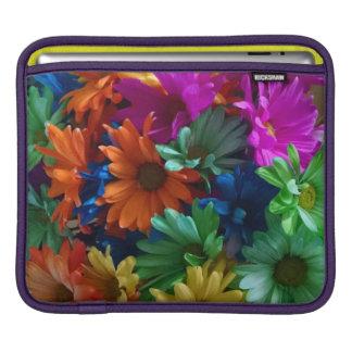 Bright Rainbow Flowers Sleeve For iPads