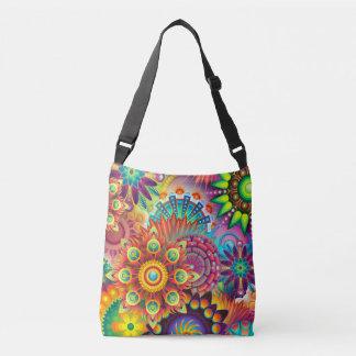Bright Rainbow Garden Digital Art Crossbody Bag