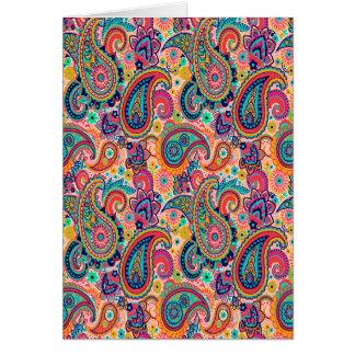 Bright Rainbow Paisley Card