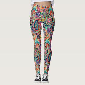 Bright Rainbow Paisley Leggings