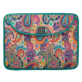 Bright Rainbow Paisley Sleeve For MacBooks