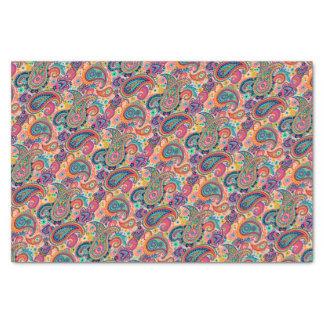 Bright Rainbow Paisley Tissue Paper