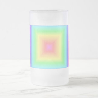 Bright Rainbow Pastel Abstract Pattern Blur 16 Oz Frosted Glass Beer Mug
