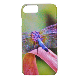 Bright Rainbow Pink Dragonfly iPhone 7 Case