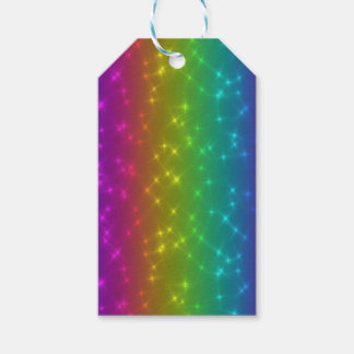 Bright Rainbow Sparkles Gift Tag