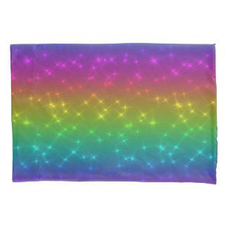 Bright Rainbow Sparkles Pillow Case