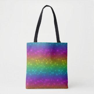 Bright Rainbow Sparkles Tote Bag