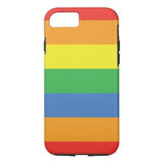 Bright Rainbow Stripes iPhone 7 Case