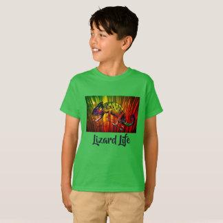 Bright Rainforest Rainbow Iguana Lizard Life Shirt