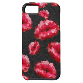 Bright Red Abstract Lips Case For The iPhone 5