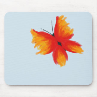 Bright Red and Orange Butterfly Mousepad