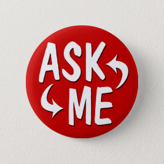 Bright Red Ask Me Button / Arrows