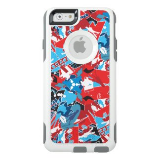 Bright red blue white pattern.Urban geometry style OtterBox iPhone 6/6s Case