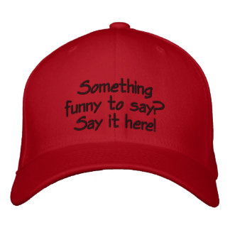 Bright red customizable cap embroidered hats