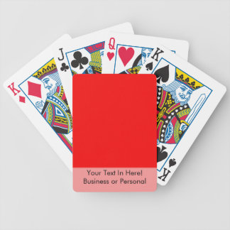 bright red DIY custom background template Poker Deck