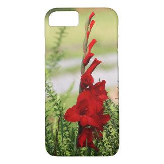 Bright Red Gladiolus Flower iPhone 7 Case