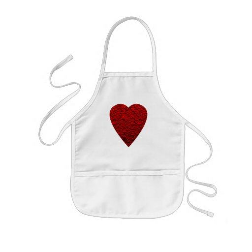 Bright Red Heart Picture. Aprons