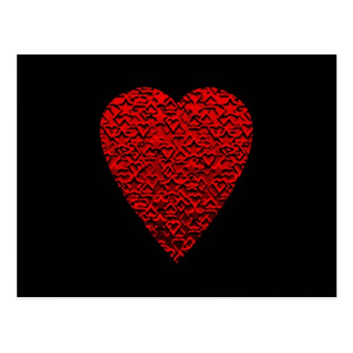 Bright Red Heart Picture. Post Cards