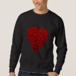 Bright Red Heart Picture. Pullover Sweatshirts
