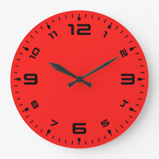 Bright Red Large Clock